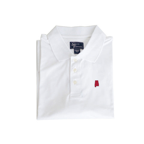 Alabama Tuscaloosa Clubhouse Performance Polo White
