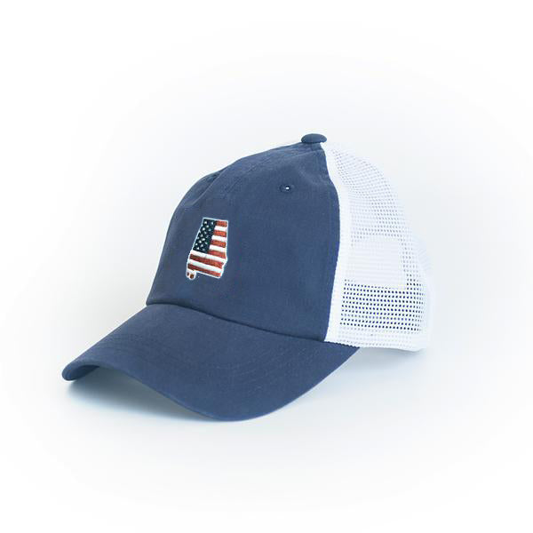 Alabama Patriot Trucker Hat Navy
