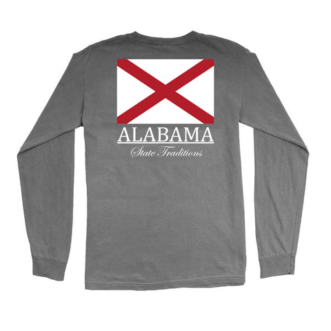 Alabama State Flag Long Sleeve T-Shirt