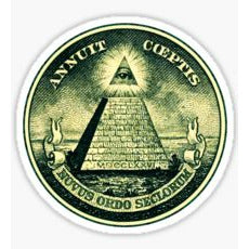 All Seeing Eye Decal, All Seeing Eye Sticker, Dollar Bill, The United States of America, Federal Reserve Note, In God We Trust, One, One Dollar Bill