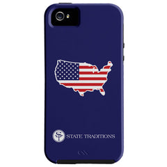 America Traditional iPhone Case Blue