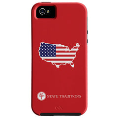 America Traditional iPhone Case Red