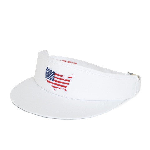 America Traditional Golf Visor White