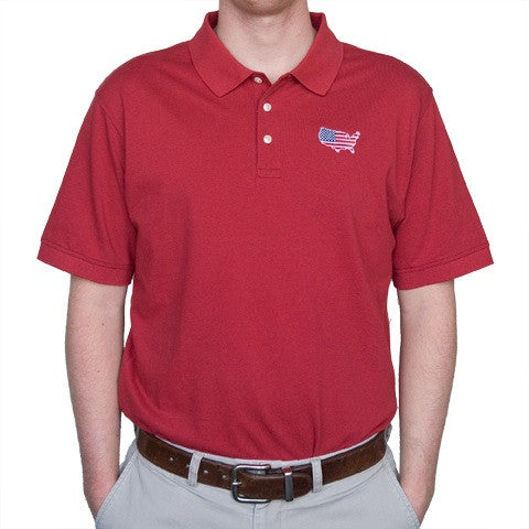 America Traditional Polo Crimson