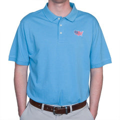 America Traditional Polo Light Blue