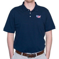 America Traditional Polo Navy