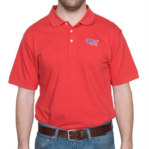 America Traditional Polo Red