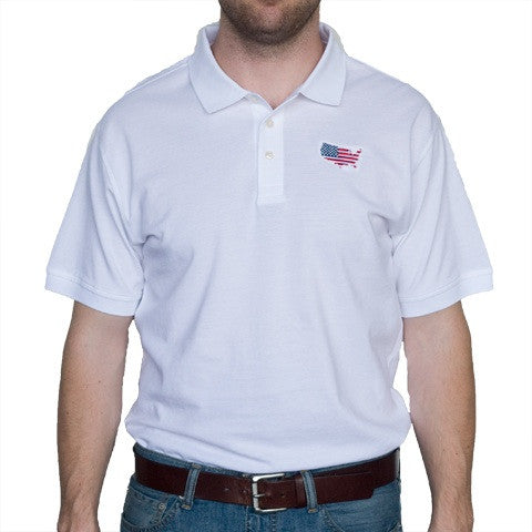 America Traditional Polo White