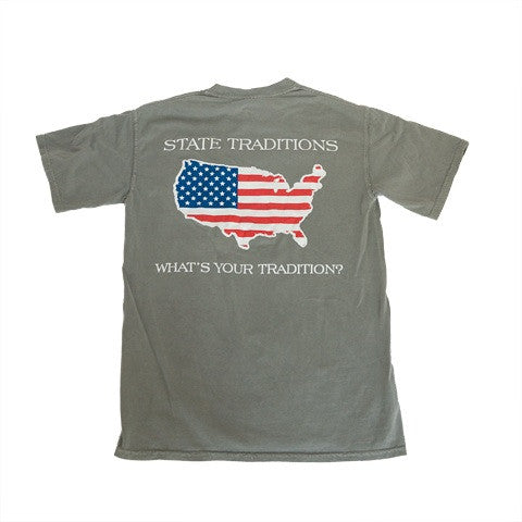 America Traditional T-Shirt Grey