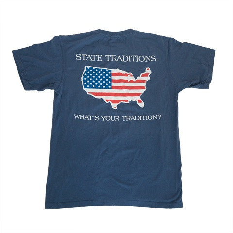 America Traditional T-Shirt Navy