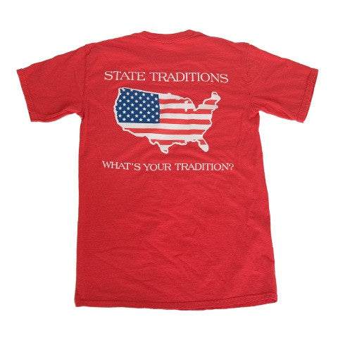 America Traditional T-Shirt Red