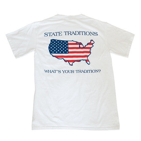 America Traditional T-Shirt White