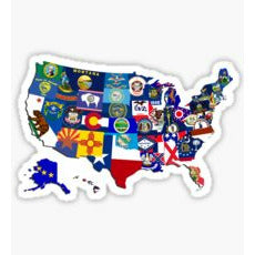 US State Flags Sticker