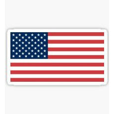 America Flag Sticker