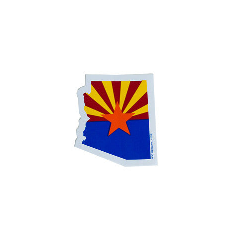 Arizona Decal, Arizona Flag, State Shape Sticker, Zona, Phoenix, Doug Ducey, Humphreys Peak