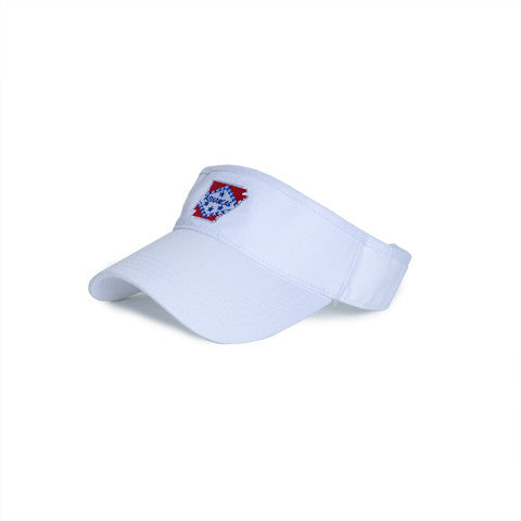 Arkansas Traditional Hat Visor White