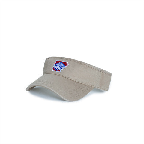 Arkansas Traditional Hat Visor Khaki