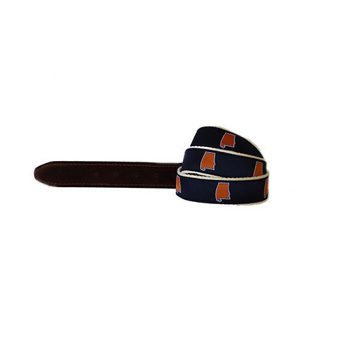 Alabama Auburn Gameday Belt