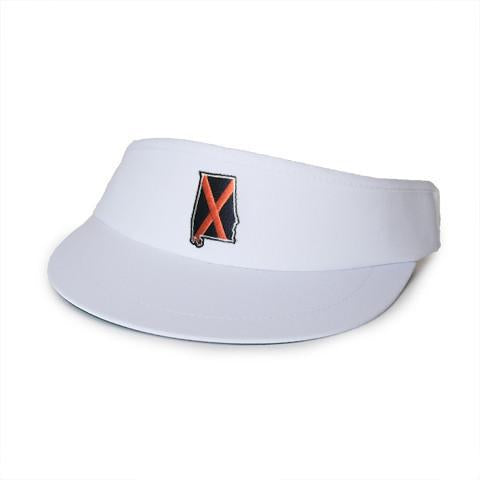 Alabama Auburn Traditional Golf Visor White
