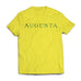 Yellow Augusta, Augusta Georgia, Green and Yellow, Yellow Augusta on Butter, T-shirt, Yellow T-shirt, Golf Tee, Short Sleeve, Spring Tee, Tradition
