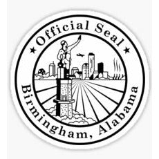 Birmingham Alabama Decal, Vulcan Sticker, The Magic City, Official Seal of Birmingham Alabama, Official Seal of Birmingham Alabama Sticker, Pittsburgh of the South, Shipt