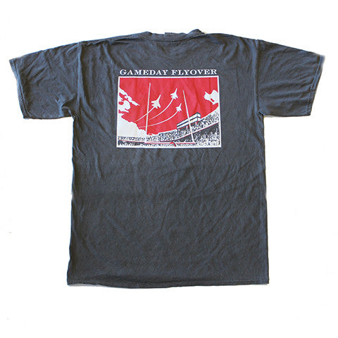 State Traditions Gameday Flyover T-Shirt Black and Red