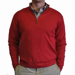 1/4-Zip Pullover Red