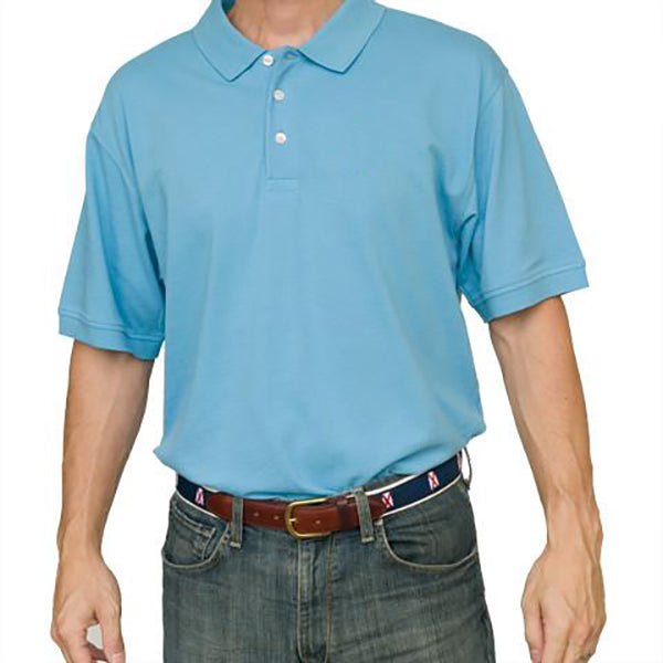 Blank Polo Light Blue