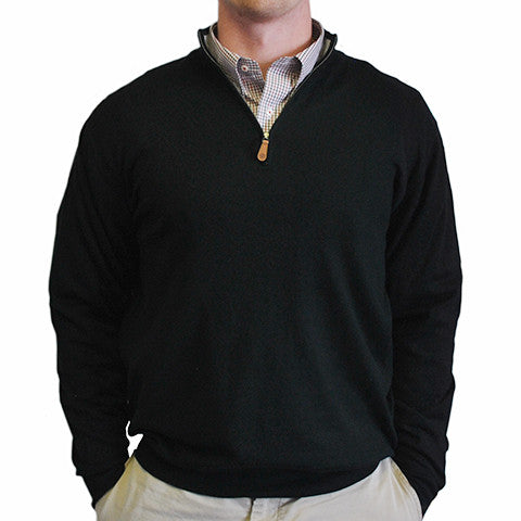 100c7af32814 1 4-Zip Pullover Black – State Traditions