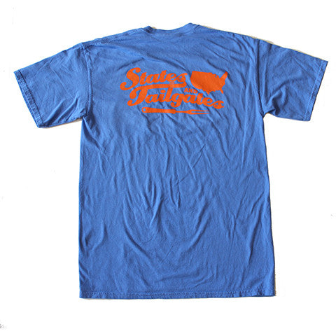 States and Tailgates T-Shirt Blue and Orange