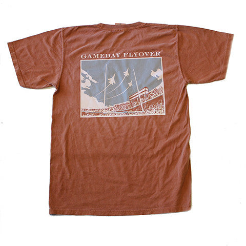 State Traditions Gameday Flyover T-Shirt Burnt Orange and Grey