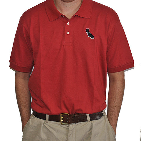 California Palo Alto Gameday Polo Crimson