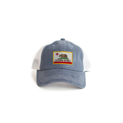 California Flag Trucker Hat Blue