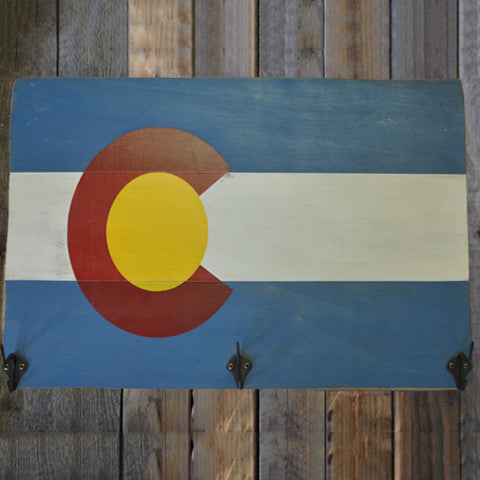 Colorado Flag Hat Rack