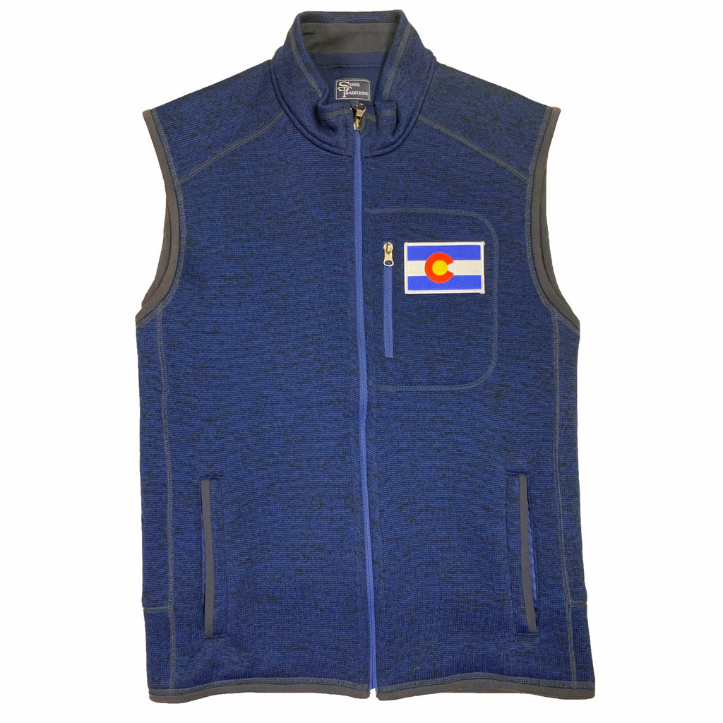 Colorado Flag Heather Sweater Vest - Navy