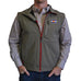 Colorado Flag Patch - Soft Shell Vest Grey with Crimson Trim