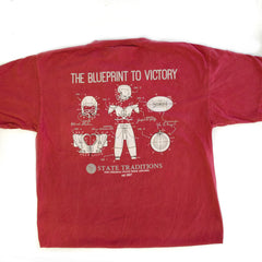 Blueprint to Victory Long Sleeve T-Shirt Crimson and Grey
