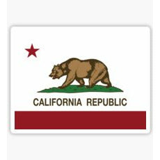 California Flag Decal, California Flag Sticker, California Republic Sticker California Republic Decal Johnnie-O, West Coast Prep,