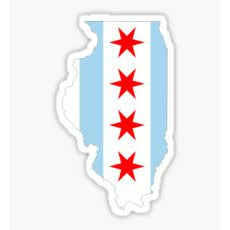 Chicago Traditional, Chicago Flag Decal, Chi Town Sticker, Sticker, 4 Stars, Signature Decal, ST Sticker, Windy City Sticker, Chi Town Decal, Chicago Flag
