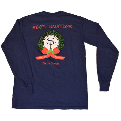 State Traditions Holiday Long Sleeve T-Shirt Navy