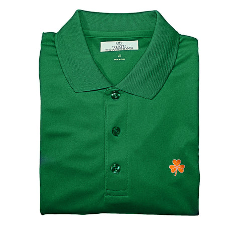 st pats, Green Polo, St. Patty Polo, St. Patrick's Day, Clover, Green Beer, Lucky