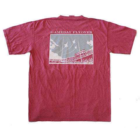 State Traditions Gameday Flyover T-Shirt Crimson and Grey