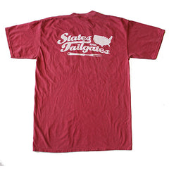 States and Tailgates T-Shirt Crimson