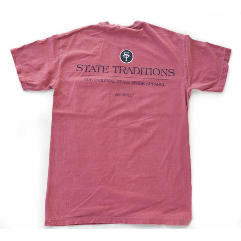 State Traditions Logo T-Shirt Brick