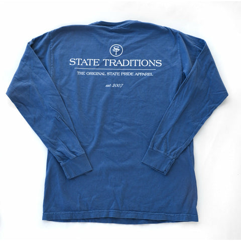 State Traditions Logo Long Sleeve T-Shirt Navy