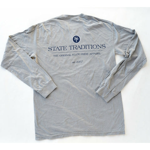 State Traditions Logo Long Sleeve T-Shirt Grey