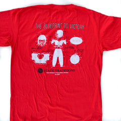 Blueprint to Victory T-Shirt Red and Black