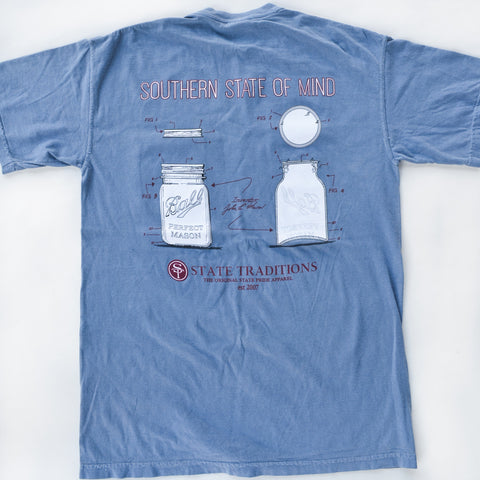 Mason Jar T-Shirt Blue Jean