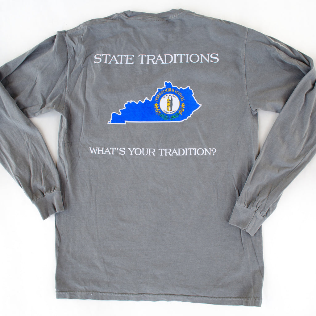 Kentucky Traditional Long Sleeve T-Shirt Grey