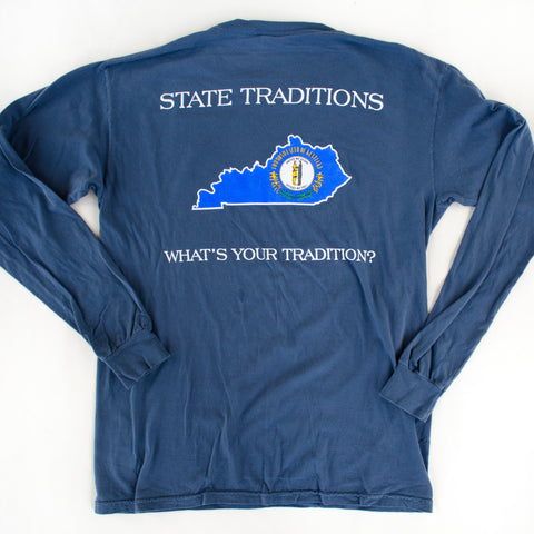 Kentucky Traditional Long Sleeve T-Shirt Navy
